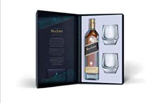 Johnnie Walker Blue Label Whisky Escocés - Estuche De Regalo Con Dos Vasos - 700 ml