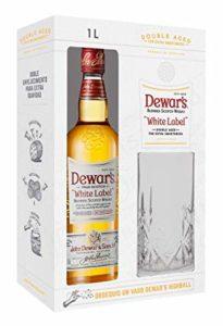 Dewar's White Label 5 whisky Gift Pack con Vaso