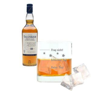 Juego de 2 Botellas de Whisky de 10 años con diseño de Palisandro y escocés