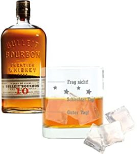Bulleit Juego de 2 Whisky Bourbon Frontier Whiskey Aged 10 Years